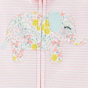 Carter's 1-Piece Elephant Snug Cotton Footless PJs
